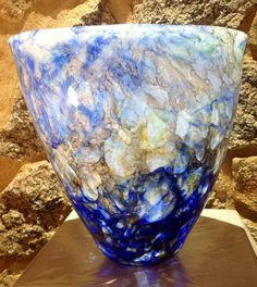 Art glass bowl created by Sibusiso & James - #handmade - #recycled