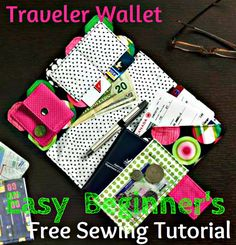 PatternPile.com - Hundreds of Patterns for Making Handbags, Totes, Purses, Backpacks, Clutches, and more. | Easy Sewing Project for Travel Wallet � Scrap-buster! | http://patternpile.com/sewing-patterns