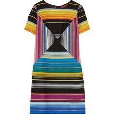 Shop Missoni Crochet-knit Mini Dress from stores. Missoni, Fuschia Dress, Blue Dresses, Short Dresses, Crochet Fashion, Polyvore, Knitting, Print Shift, Stripe Dress