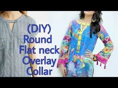 In this tutorial, will show you the easiest way to make a round flat collar. Bodice Pattern, Collar Pattern, Neck Pattern, Blouse Neck Designs, Sleeve Designs, Collar Kurti, Blouse Tutorial, Western Tops, Women Wear