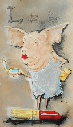 Lipstick on a Pig by Jenairene.deviantart.com
