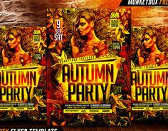 """Check out new work on my @Behance portfolio: """"Autumn Party Flyer Template"""" http://on.be.net/1V5kuB2"""