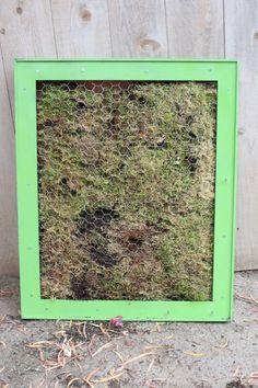 Framed Vertical Garden - DIY - Diapers-n-Heels
