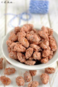 Mandorle pralinate Easy Cookie Recipes, Sweets Recipes, Appetizer Recipes, Cooking Recipes, Muffin, Sweets Cake, Latte, Cupcakes, Vegan Desserts