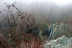 Waterfall hiking on Skyline Drive, Blue Ridge Parkway