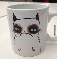 Grumpy Cat mug to paint!