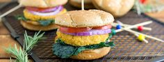 For those of you that need to sneak veggies into your kids at every opportunity, these chickpea burgers are for you!