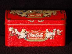Vintage Collectible Coke Drink Coca Cola Unique Antique Chest Display Tin