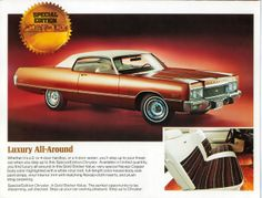 ..THIS was the car I wanted...the color and the interior was SO cool...but my father got that year's New Yorker instead...!
