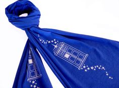 Doctor Who TARDIS Inspired Scarf