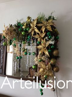 Easy Christmas Decorations, Christmas Swags, Xmas Wreaths, Christmas Centerpieces, Rustic Christmas, Simple Christmas, Holiday Crafts, Christmas Holidays, Christmas Ornaments