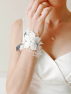 Jewelry depicts of the terrific impressions when we talk about brides as no bride is complete without pairing a fine but classy jewelry pieces. Well we have the best designs of lace bracelets which… Wedding Gloves, Wedding Hair Clips, Wedding Hair Flowers, Lace Bracelet, Bridal Bracelet, Wedding Jewelry, Flower Bracelet, Bridal Cuff, Bridal Lace