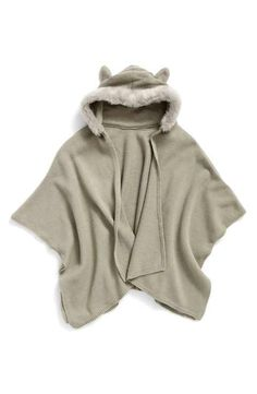 Tucker + Tate Hooded Cape with Faux Fur Trim (Big Girls)