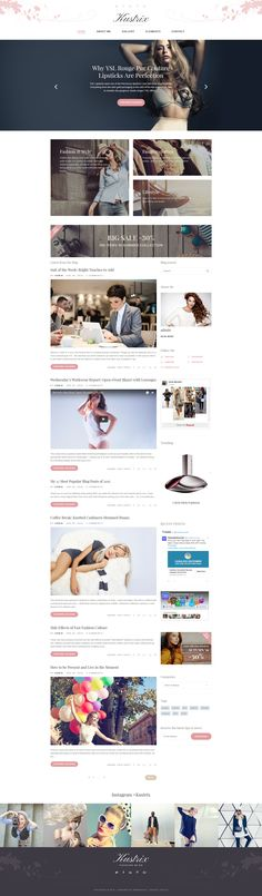 WordPress Template , Kustrix - Fashion Blog Magazine