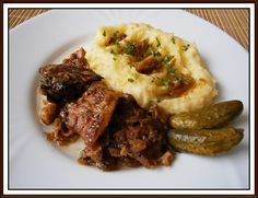 Czech Recipes, Russian Recipes, Ethnic Recipes, Mashed Potatoes, Pork, Food And Drink, Beef, Polish, Decor