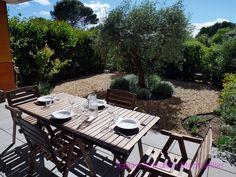 Le jardin privatif de l'appartement jardin d'Aiguelongue à Montpellier