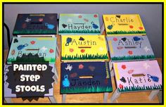 Personalized Painted Step Stools - an inexpensive and fun gift or a project kids would be proud to make themselves..