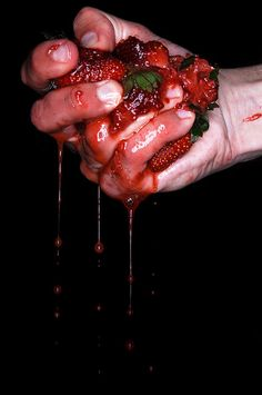 BleedingㆁBerries L Lawliet, Hades And Persephone, Hand Reference, Red Aesthetic, Greek Gods, Food Styling, Character Inspiration, Food Photography, Photoshoot