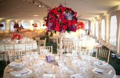 Purple wedding table decor | Architecture & Interior Design