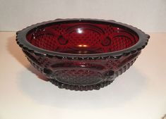 Bowl Serving Cape Cod Avon 1876 Red Ruby Centennial by wasminenowyours on Etsy