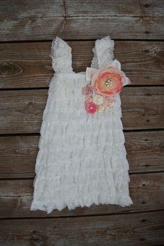 Lace Baby dress-Flower girl dress-Lace dress-Little girl dress-Lace petti dress