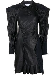 Shop black Koché bat sleeve dress with Express Delivery - Farfetch Gothic Gowns, Long Sleeve And Shorts, Black Bat, Bat Sleeve, Kochi, World Of Fashion, Size Clothing, Women Wear, Female