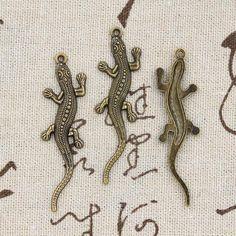 99 Cents 5 pcs Charms lézard 56 * 15 mm Antique faire pendentif fit, Vintage tibétain bronze, Bricolage bracelet collier