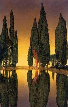 Maxfield Parrish Cypress Trees