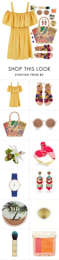 """tropical disease"" by touxe ❤ liked on Polyvore featuring MANGO, Elina Linardaki, Tory Burch, House of Holland, Kate Spade, Ranjana Khan, Urban Decay, Benefit, Paul & Joe Beaute and summerbrights"