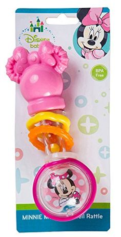 Disney Minnie Mouse Barebell Rattle Perfect size for baby's little hands to hold Beloved and Colorful characters make mealtime fun and entertaining Fashionable colors and designs Baby Dolls For Kids, Baby Girl Toys, Baby Play, Toys For Girls, Minnie Mouse Toys, Minnie Mouse Theme, Disney Baby Nurseries, Bb Reborn, Frozen Coloring Pages