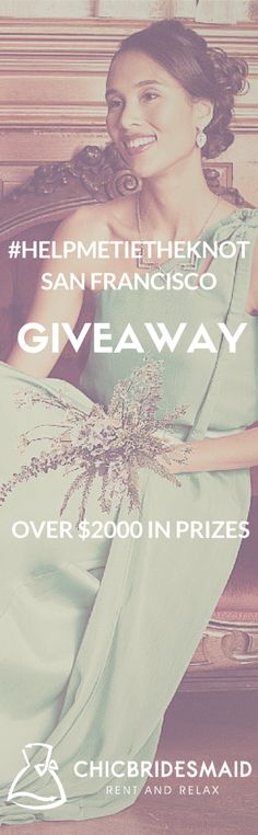 Hey #SanFrancisco Are you Getting married? Check out this amazing giveaway collaboration #helpmetietheknot worth over 2k. Go to chicbridesmaid.com to enter and for more details. #SF #contest #giveaway #eastbay #weddings #brides #bridesmaids #weddingflowers #vsco #vscocam #bayarea #bayareaweddings #weddinggiveaway #engaged #berkeley #oakland #bridesmaid #bacheloretteparty #bachelorette #bride