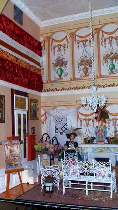 I love this lady's tea room I made.