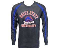 L/S Tee Fusion Boise State Over Logo Vert Bronco | Boise State Bronco Shop