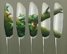 Feather Paintings by Julie Thompson