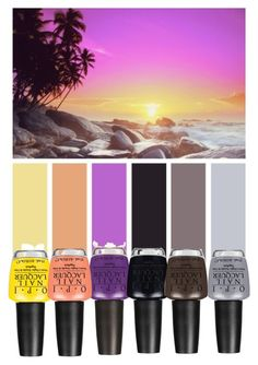 """Beach sunset"" by pink1princess ❤ liked on Polyvore featuring art"