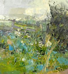 Joan Eardley ~ Flowers by the Wayside (British Artist, Abstract Landscape Painting, Landscape Art, Landscape Paintings, Abstract Art, Abstract Expressionism, Paintings I Love, Modern Art, Contemporary Art, Illustration Art