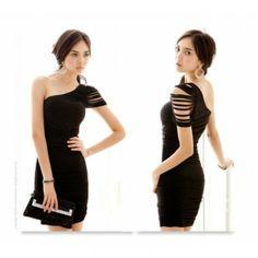 Single Shouder Slim  Dresses http://www.breakicetrends.com/dresses-53.html/casual-dresses-175.html/fashion-sexy-single-shouder-slim-dresses-casual-dresses.html