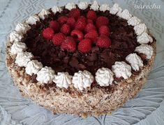 Orechovo-gaštanová torta s mascarpone (fotorecept) - recept Pavlova, Tiramisu, Food And Drink, Pie, Sweet, Ethnic Recipes, Hampers, Mascarpone, Torte