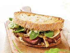 Steak and Fennel Sandwiches | Save money and eat healthier with these souped-up sandwiches.