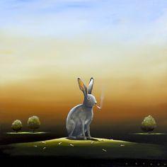 The Butt Hare, Acrylic on canvas Deyber.com