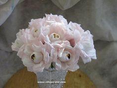 Rose crepe paper chocolate flowers. Chocolate Flowers, Chocolate Bouquet, Chocolate Fountains, Candy Bouquet, Crepe Paper, Rose, Handmade, Pink, Hand Made
