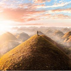 Beautiful sunrise in Chocolate Hills, Bohol A massive thank you to all the photographers, hobbyists & travelers who share their wonderful Philippines media. Voyage Philippines, Bohol Philippines, Philippines Travel, Filipino, Siargao Island, Whale Watching Tours, Beautiful Sunrise, We Fall In Love, Travel Couple