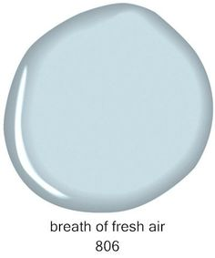 Benjamin Moore Breath of Fresh Air 806 {Master bedroom Color! Interior Paint Colors For Living Room, Bedroom Paint Colors, Paint Colors For Home, Wall Colors, House Colors, Paint Colours, Interior Colors, Interior Livingroom, Bathroom Colors