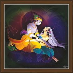 Radha Krishna Paintings (RK-2313) Durga Maa Pictures, Ganesha Pictures, Radha Krishna Love, Radhe Krishna, Lord Krishna, Indian Art Paintings, Fantasy Paintings, Landscape Paintings, Buddha Painting