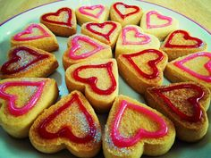 Mrs Beeton's simple biscuits, glitzed up a little <3