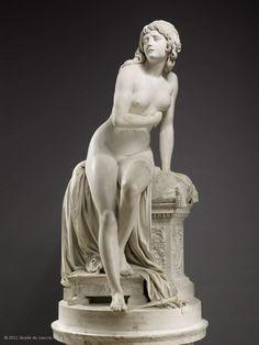 """Augustin PAJOU (Paris, 1730 - Paris, 1809), """"Psyche Abandoned,"""" 1790, The Louvre"""