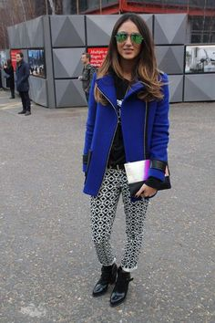 Blogger posted up London Fashion Week- #StreetStyle #lfw #2013