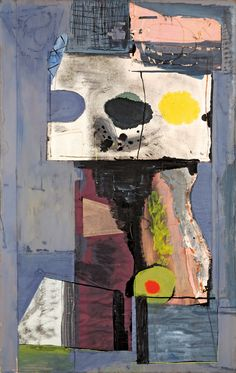 "guggenheim-art: "" Personage (Autoportrait) by Robert Motherwell via Guggenheim Museum Size: 103.8x65.9 cm Medium: Gouache, ink, and colored paper and Japanese paper collage on paperboardThe Solomon R. Guggenheim Foundation Peggy Guggenheim..."