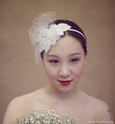 Wedding Hair Accessories Pearls and Rhinestones Ivory by WishPiece, $295.00