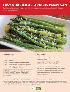 Easy Roasted Asparagus Parmesan.  Finally got everyone to eat asparagus!!